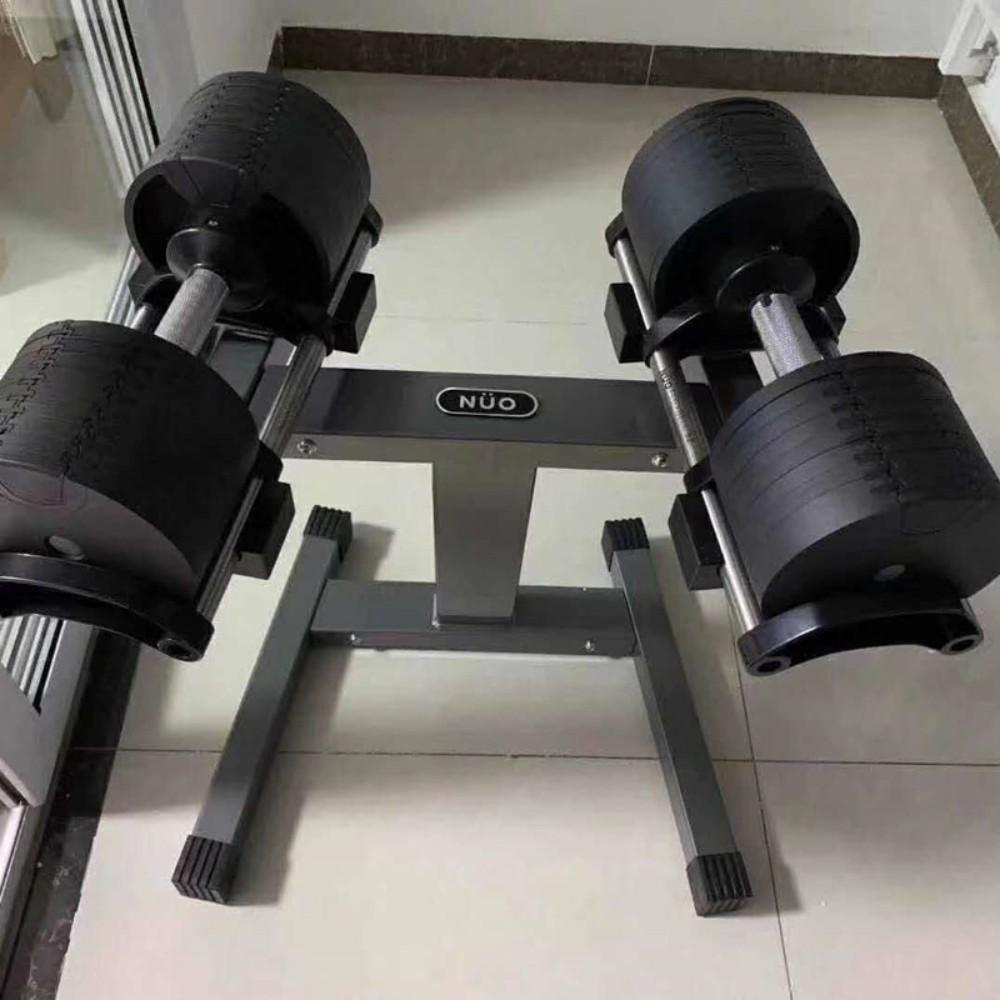 신형 누오 무게조절 덤벨 32kg 한쪽 2kg 단위 변환, NUO 덤벨 랙 + 20-25kgg