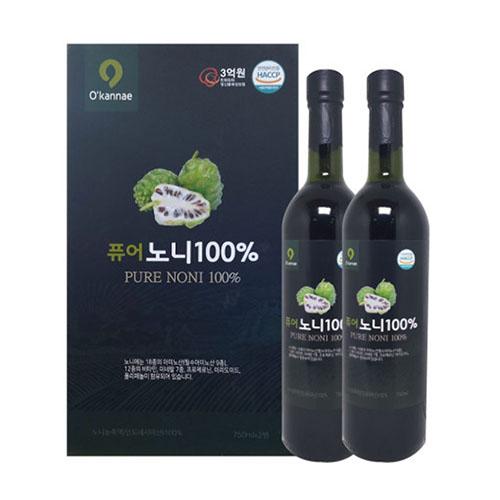 [농업법인 옻가네] 퓨어노니100% 750ml x 2병, 750ml 2병