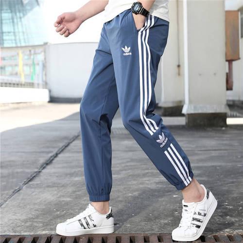 해외 남녀공용 아디다스 스포츠웨어 오리지날 트레포일 조거팬츠 슬림팬츠 트랙팬츠 아디다스 아디다스 여름 캐주얼 바지 남성 얇은 클로버 스포츠 바지