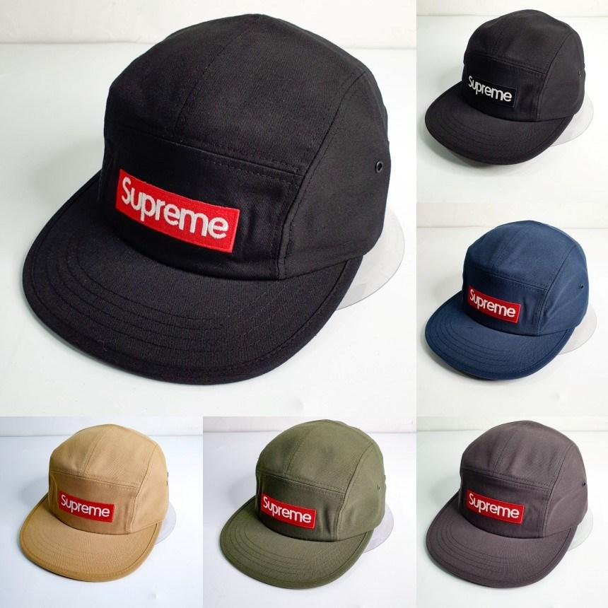 슈프림 스티치 프리미엄 캠프캡 모자