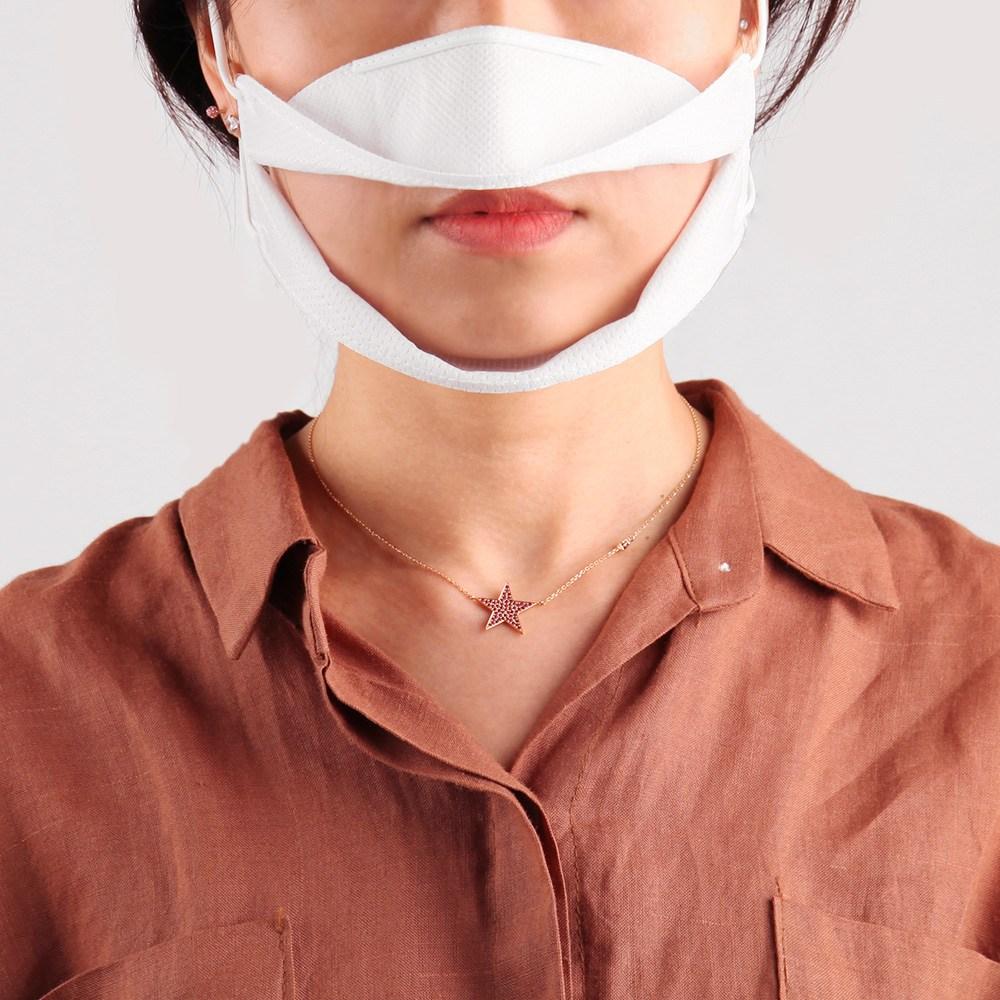 입보이는 투명 마스크 청각장애인 난청인 수화용 립뷰 마스크 비말방지 특허받은 국내제조, 2개