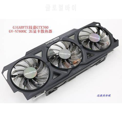 새로운 원본 GIGABYTE GTX760 GV-N760OC-2G 그래픽 카드 쿨러 팬 (방열판, 상세내용참조