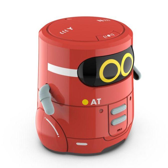 AT 스마트로봇 인공지능 미니게임 노래 댄스 터치 컨트롤 RC로봇, 레드