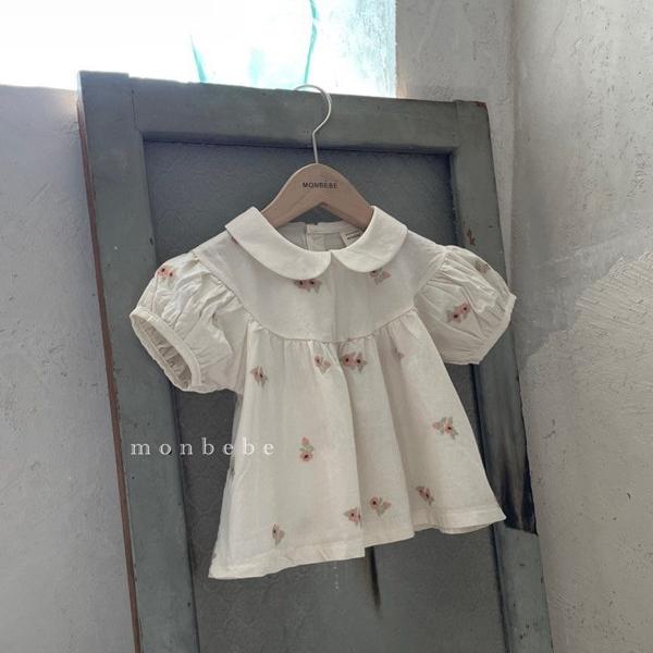 돌아기 블라우스 유아원피스 신생아옷 봄 여름 아기옷 로즈엘더 블랑