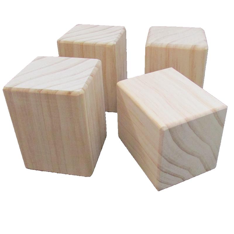 스퀘어 나무 가구 책상 테이블 높이조절발 가구발 발통 폴딩박스다리 매트리스 의자 받침, 길이 3x 너비 3x 높이 5cm