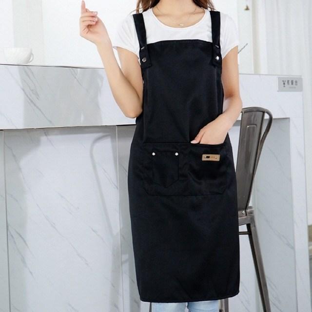 홈씽세상 카페 바리스타 어린이집 미용 주방 공방 작업용 방수 예쁜 앞치마, B: H형 블랙