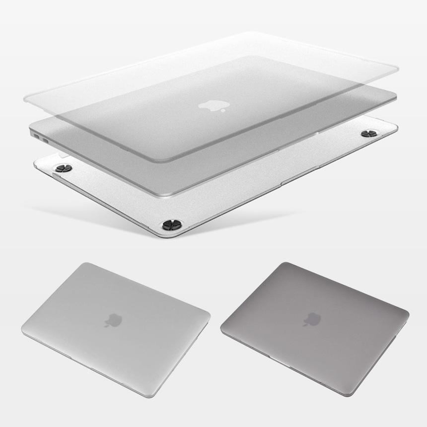 컴플렉스 맥북 프로 16인치 하드쉘 케이스, 클리어매트-반투명