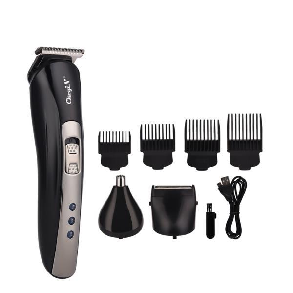3 In 1 USB 충전식 전기 수염 트리머 코 귀 머리 트리머 면도기 면도기 이발사 면도기 + 4 제한 빗, 한개옵션0