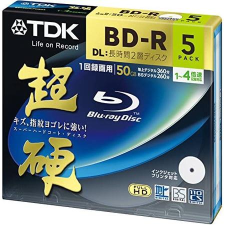 TDK 블루레이 BD-R DL 디스크 슈퍼드라이브 하드 코팅 Surface 50GB Blueray 4x 스피드 5 팩 PROD1740146, 상세 설명 참조0