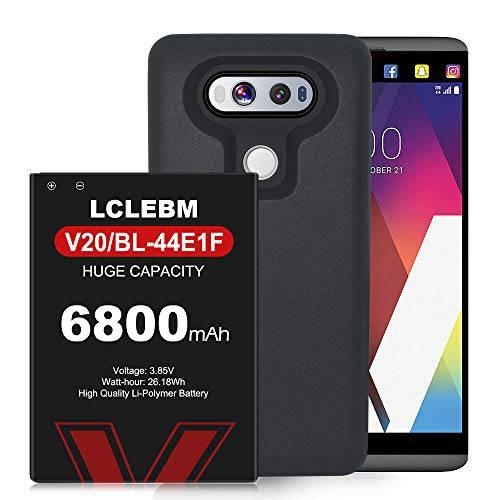 LG V20 배터리 6800mAh 교체용 LG V20 Extended 배터리 BL-44E1F with 블랙, 상세내용참조