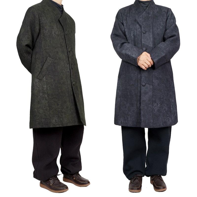 단아한의 남성 남자 겨울 생활한복 개량한복 도윤 두루마기 누빔 승복 절옷 생활한복(개량한복)