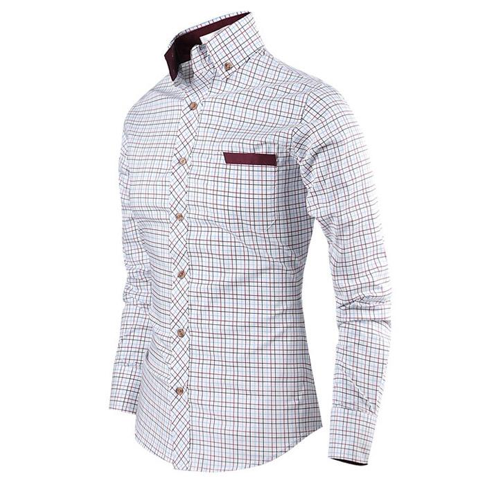 더패션 남성 체크 스판 긴팔 셔츠 남자 남방 와이셔츠 캐쥬얼 오피스