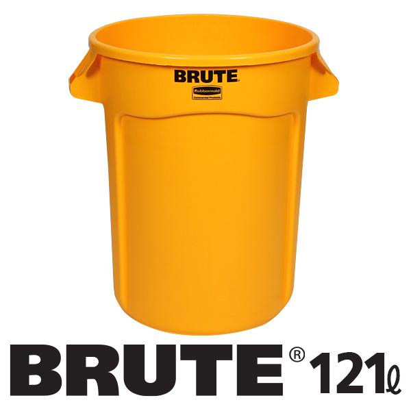 러버메이드 브루트 컨테이너 121L, 노랑, 1개