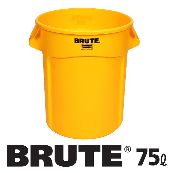 러버메이드 브루트 컨테이너 75L, 노랑, 1개