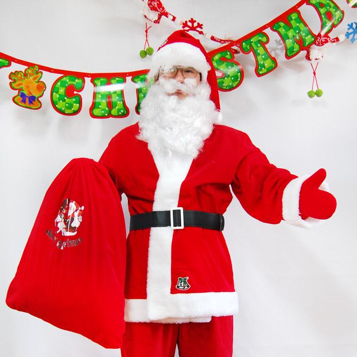 피플스파티 산타복 고급 남 7종 산타옷 꿈동산 상의 하의 벨트 모자 수염 장갑 자루, 산타옷(고급 남 7종)