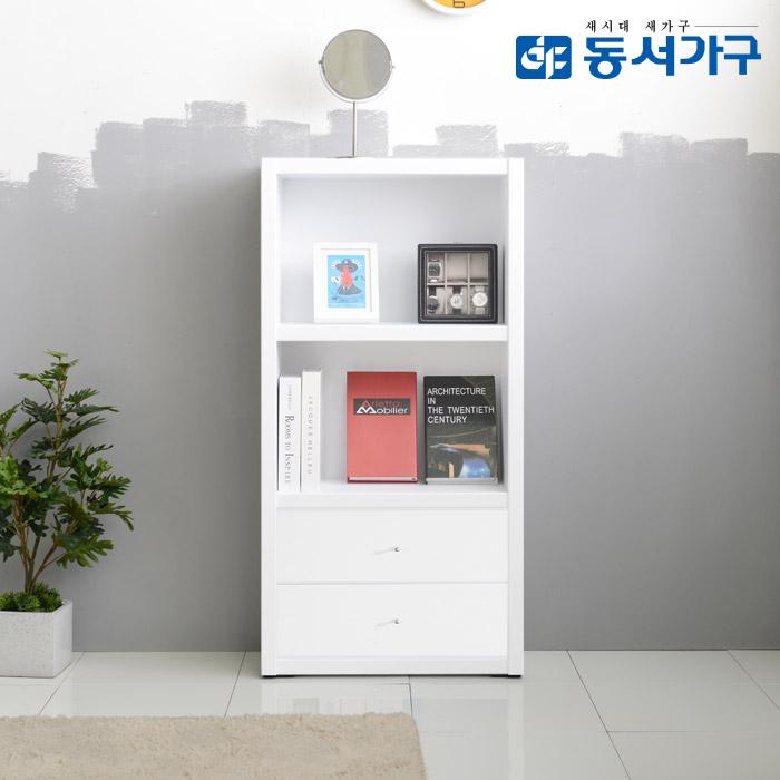 동서가구 프린스 600 3단 서랍형 책장, 화이트
