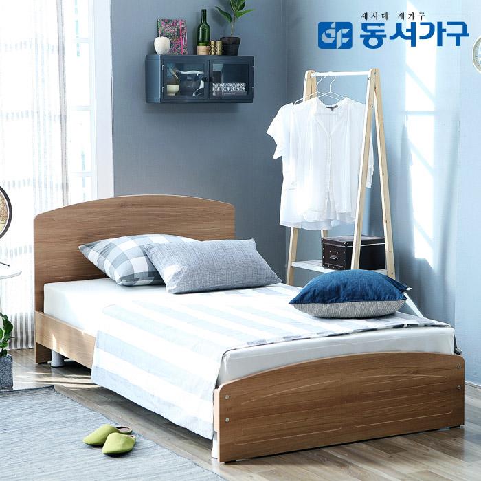 동서가구 레브721 침대 + 매트리스 슈퍼싱글 세트, 오크
