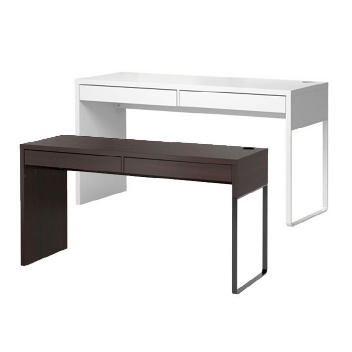 이케아 MICKE 2인용 컴퓨터 책상, 화이트