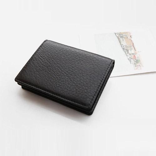 프롬비 소가죽 젠틀 명함카드지갑