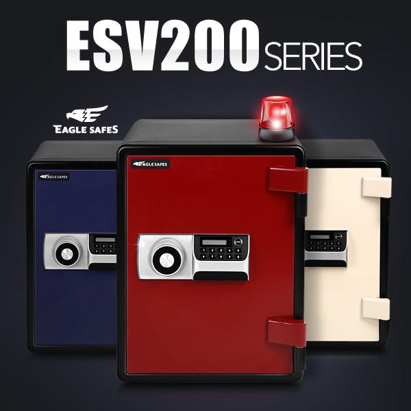선일금고 디지털 내화금고 ESV200 63kg, 레드