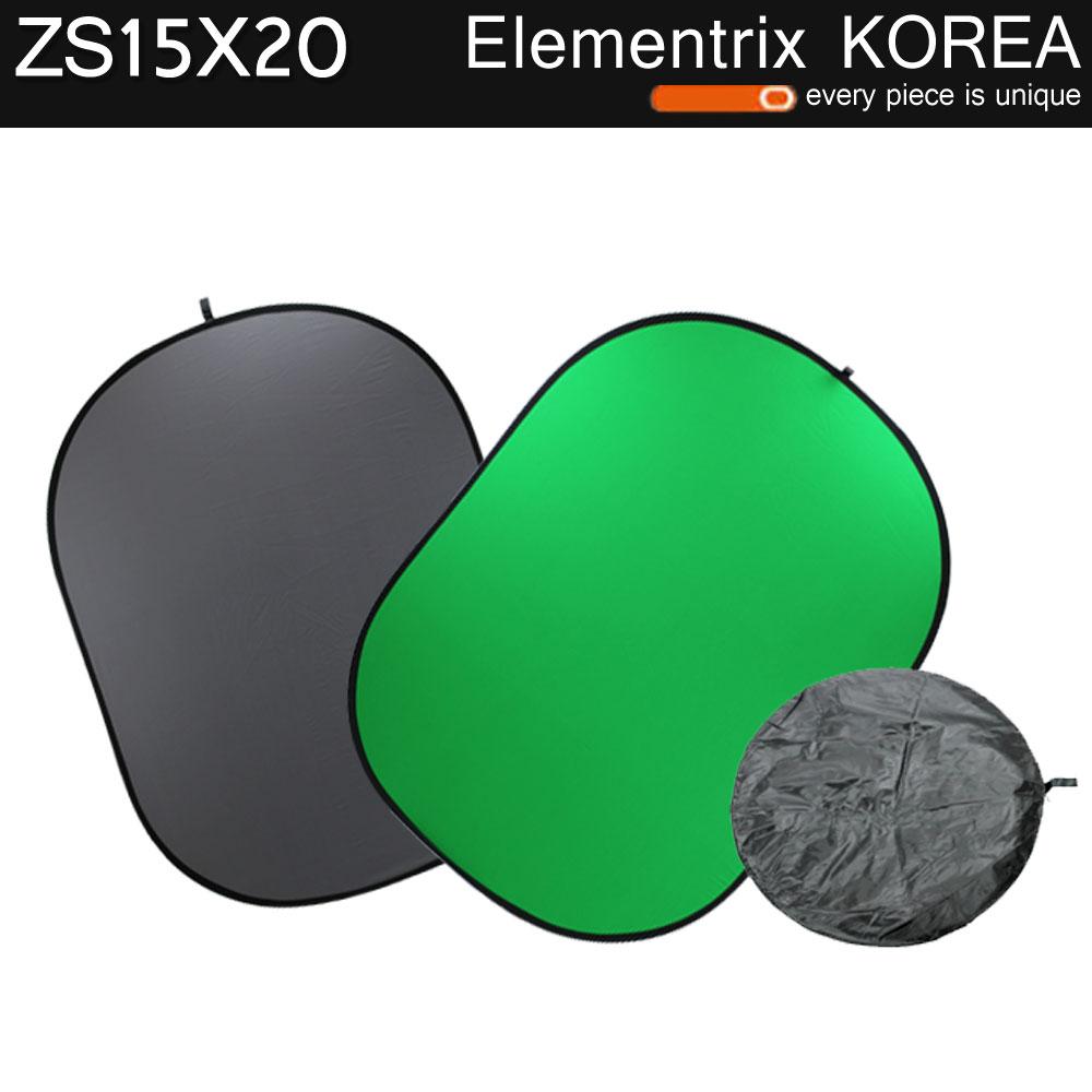 엘리멘트릭스 2in1 양면 크로마키 촬영 배경판 ZS15X20