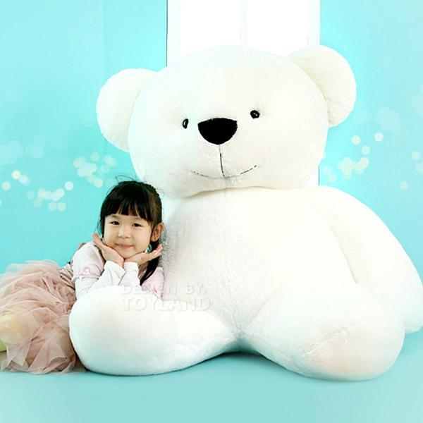 누리토이즈 곰인형, 화이트, 대형 (90cm)