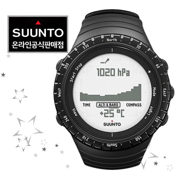 순토 남성용 코어 스포츠 시계 SS014809000, 레귤러 블랙