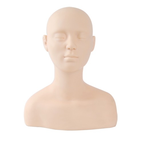 크라운가발 데콜테마네킹 피부미용 메이크업 반영구속눈썹 연습이 가능한 메이크업마네킹 상반신메이크업마네킹, 1개