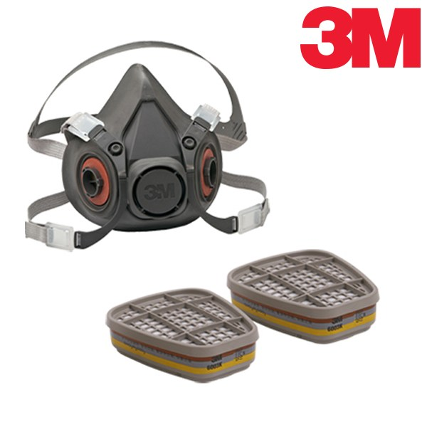 3M 방독 마스크 셋트 6200+6003K, 6200+6003K 세트, 1개입