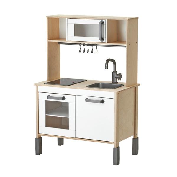 이케아 DUKTIG 싱크대 + 상부수납장 유아용 키친세트, 단일색상