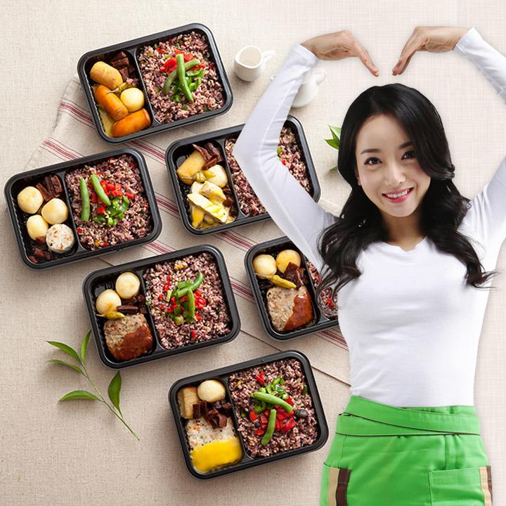 에스크라인 정인혜도시락 집밥 식단관리 프로젝트 6종 12종 식단, 맛좀볼래