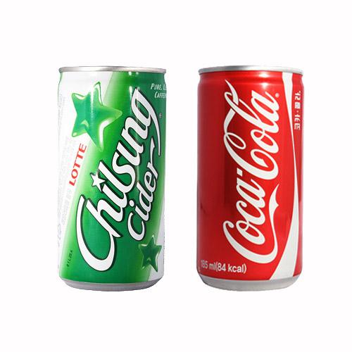 탄산음료 코카콜라 15캔+칠성사이다 15캔, 코카콜라 185mlx15캔+칠성사이다 190mlx15캔