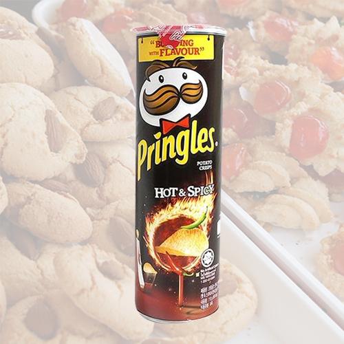 프링글스 핫 & 스파이시 감자칩, 110g, 5개