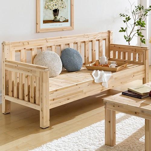 심서방가구 삼나무 침대형 원목 소파, 네츄럴