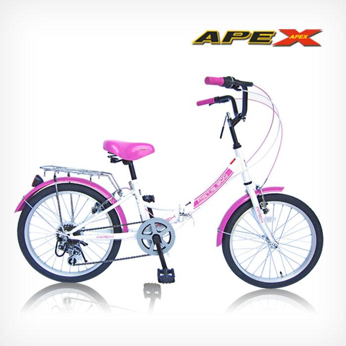 아펙스 샤인 20인치 7단 접이식자전거 자전거 샤인핑크ⓘK103852ⓟ