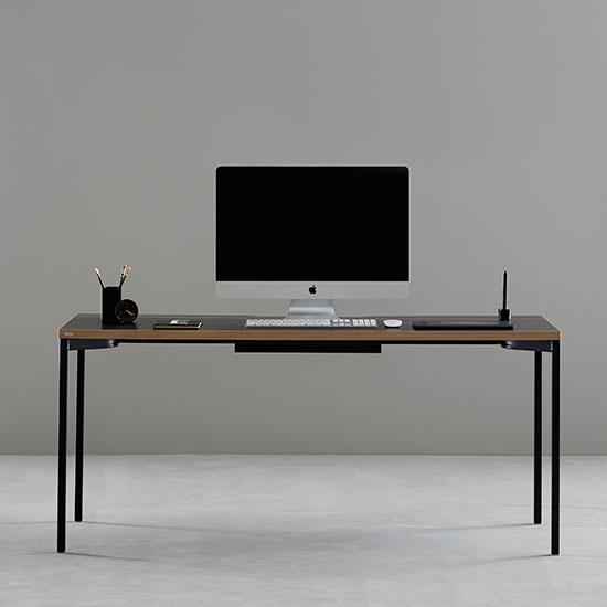 데스커 DSAD116D 컴퓨터데스크(1600x700) 책상, 상판-메이플/다리-화이트
