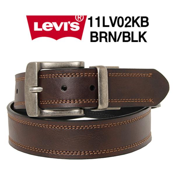 Levis 리바이스 벨트 11LV02KB (브라운_블랙) 빅사이즈 44까지
