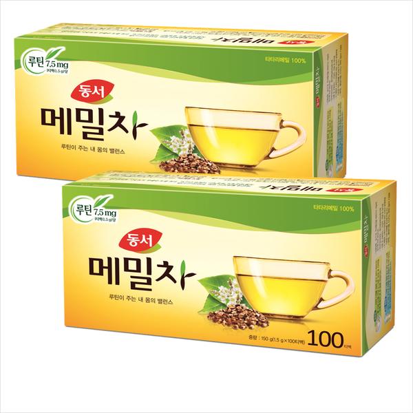 동서식품, 1.5g, 동서메밀차100Tx2개