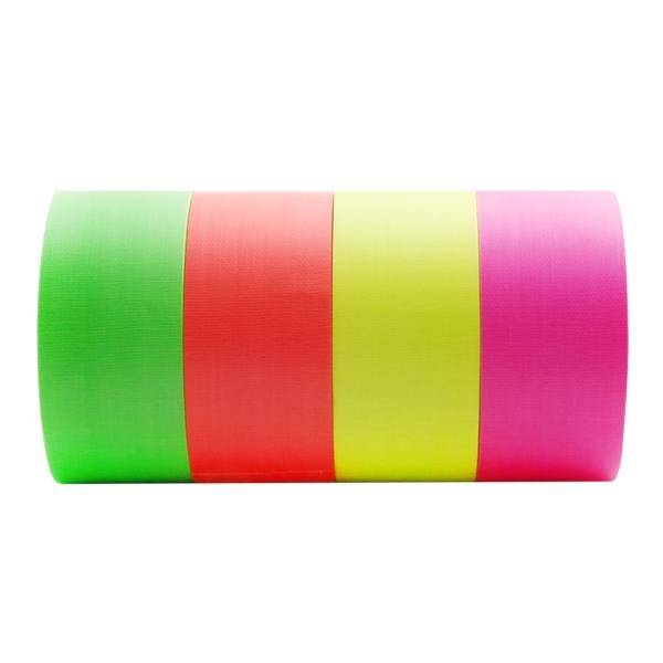 [Champs] 국산 형광색 면테이프 50mm x 10M 4가지색상 택1 안전표시 테이프 안전테이프 야간작업 형광테이프, 형광오렌지색