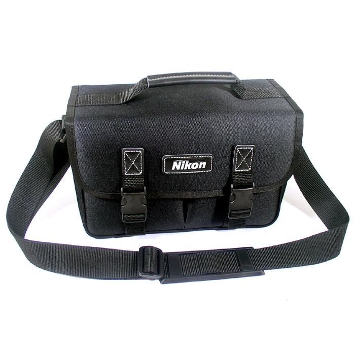 국산 중형 숄더백 Nikon 로고 호환품 생활방수 - 호환니콘가방 가성비가방 카메라가방 카메라숄더백 공구가방 장비가방, 블랙, 1개