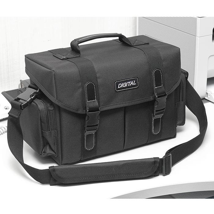 국산 대형 숄더백 DIGITAL - 내부사이즈30x18x13 생활방수 카메라가방 공구가방 장비가방, 블랙, 1개
