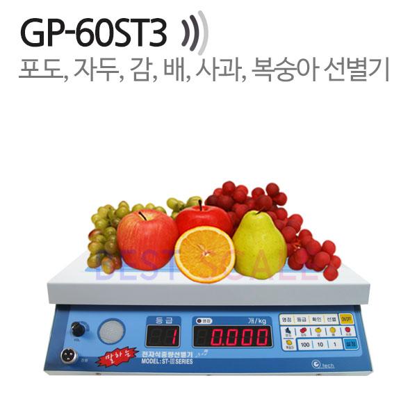 지테크 음성 말하는 과일 선별기 GP-60ST3, 과일선별기(사과/배/포도/감/복숭아/자두)