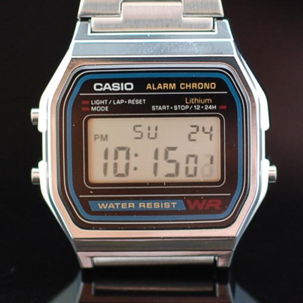 타임플래닛 CASIO A158WA-1D 카시오 시계 메탈밴드