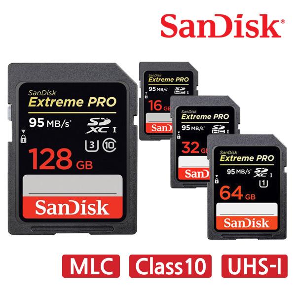 샌디스크 익스트림 프로 SD카드 CLASS10 MLC, 128GB