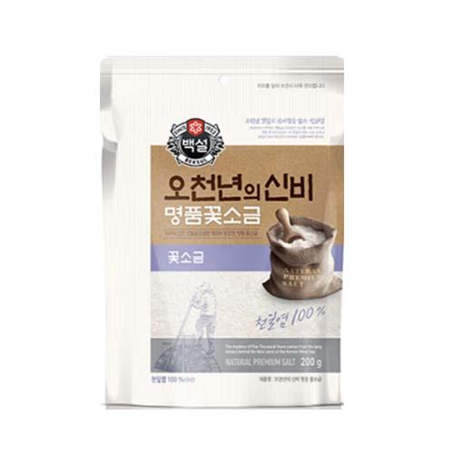 (상온)백설 국산꽃소금, 900g, 오천년의신비 국산꽃소금 1개
