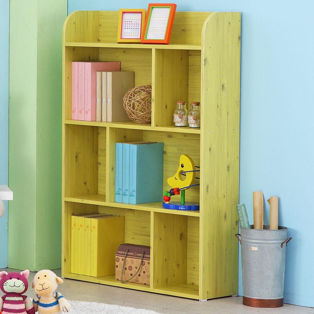 벨라홈 라운딩 4단 유아동책장 와이드형, 레몬옐로우