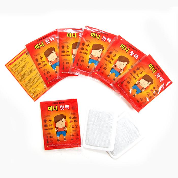 [100매] 휴대가 간편한 미니 붙이는 핫팩, 100매