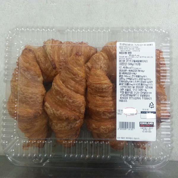 코스트코 프렌치 버터크라상 10개입, 58g, 1개