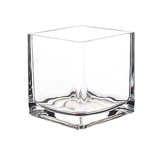 잎새몰 원형 유리 꽃화병 사각유리화분, 사각