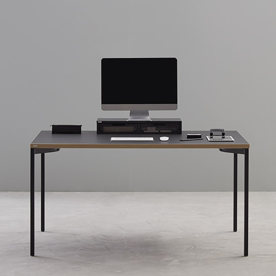 [데스커 본사] 베이직 데스크(1400x600) 사무용책상, 상판-메이플/다리-화이트